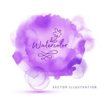 Aquarelle violette réaliste fond