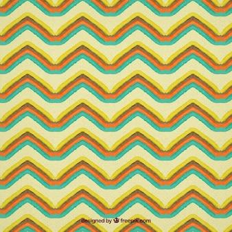 Aquarelle zig zag pattern