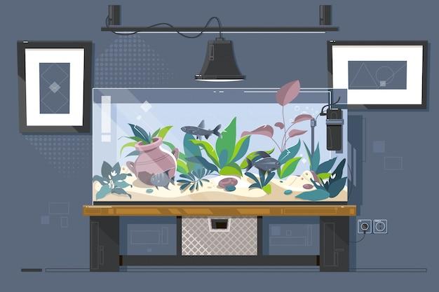 Aquarium de réservoir
