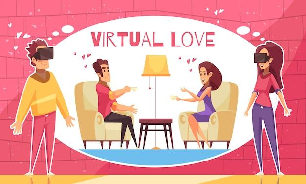 Ar virtual love background