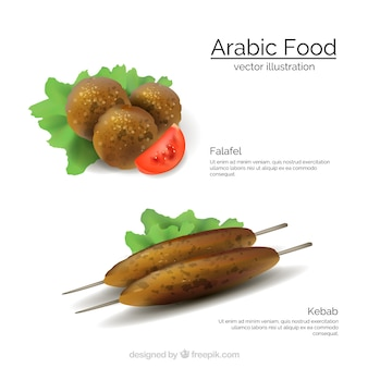 Arabe menu template alimentaire