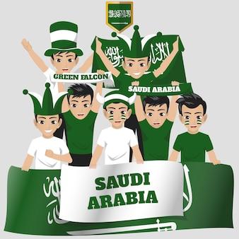 Arabie saoudite supporter de l'équipe nationale