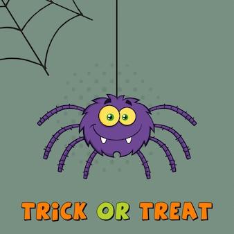 Araignée halloween pourpre