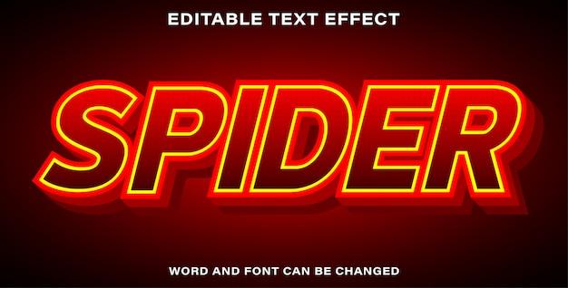 Araignée de style d'effet de texte