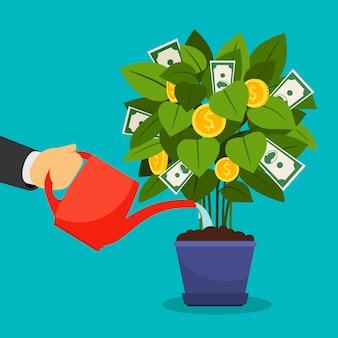 Arbre d'argent en croissance