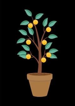 Arbre d'argent, illustration vectorielle de croissance financière concept plat