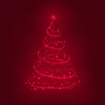 Arbre de Noël rougeoyant