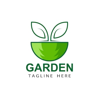 Arbre eco jardin logo template design vecteur