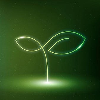 Arbre icône vecteur symbole de conservation de l'environnement