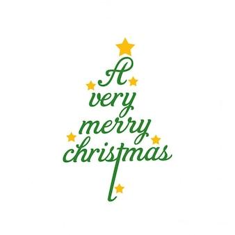 Un arbre lettrage merry christams très