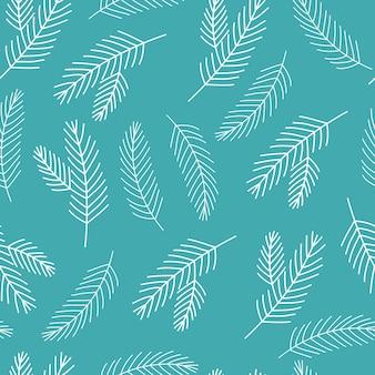 Arbre de noël brindille transparente motif bleu et blanc collection hiver