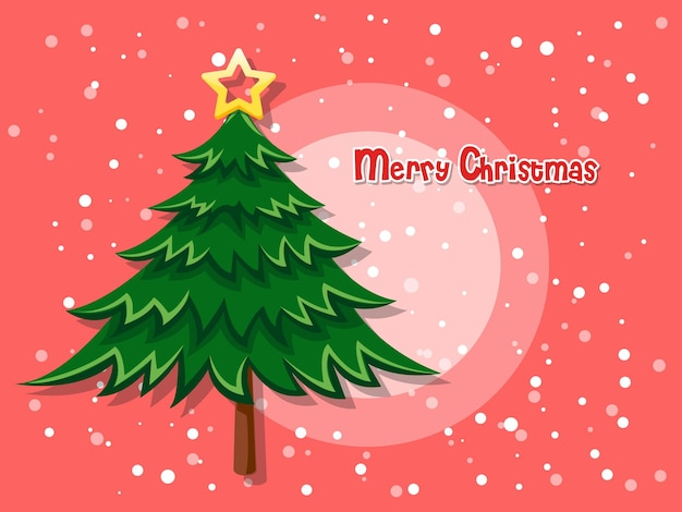 Arbre de noël sur fond de couleur. bonne année et élément décoratif. illustration vectorielle.