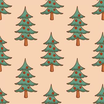 Arbre noël motif fond médias sociaux post décoration noël illustration vectorielle