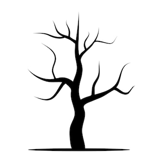 Arbre sans feuilles. illustration vectorielle isolée sur fond blanc