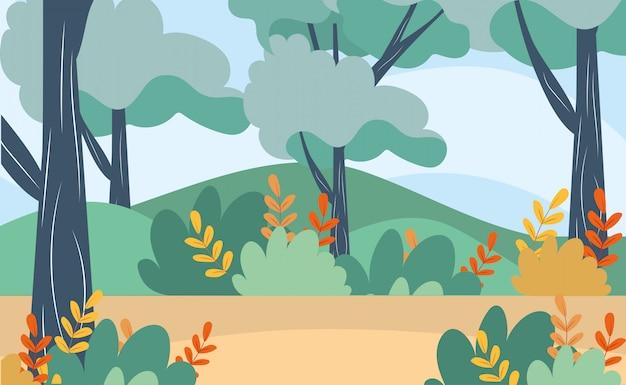 Arbres avec branches de nature feuilles et arbustes