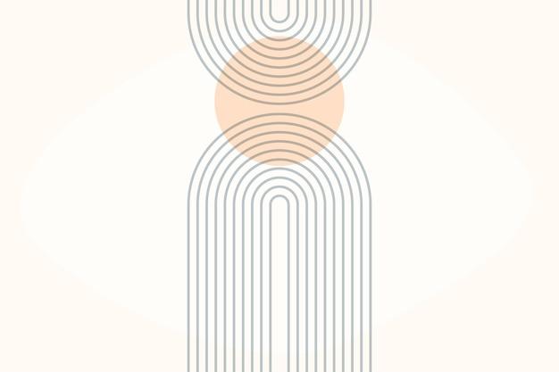 Arc arc-en-ciel. impression d'arche boho moderne du milieu du siècle.