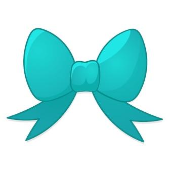 Arc bleu en style cartoon. illustration vectorielle de noël sur fond blanc