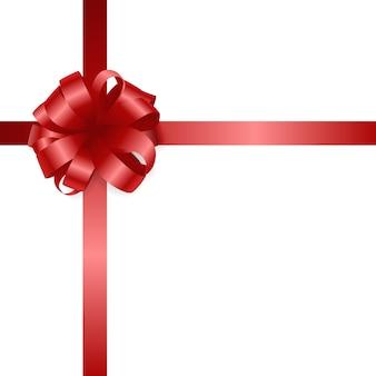 Arc cadeau rouge et ruban