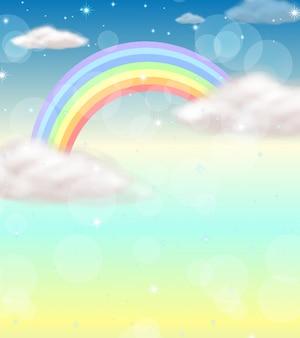 Un arc-en-ciel dans le ciel