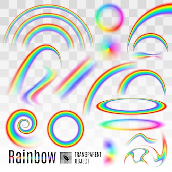 Arc-en-ciel sur transparent
