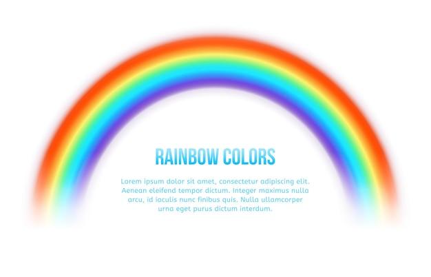 Arc en ciel de vecteur. coloré lumineux, courbe d'art du spectre, arc de ligne