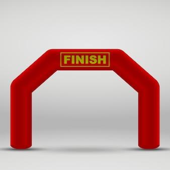Arc de ligne d'arrivée gonflable 3d. illustration vectorielle
