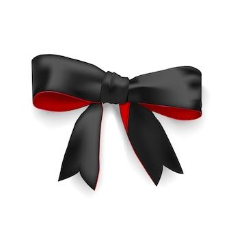 Arc noir élégant réaliste avec couvercle rouge sans illustration d'arrière-plan
