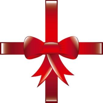 Arc rouge sur l'illustration vectorielle fond blanc