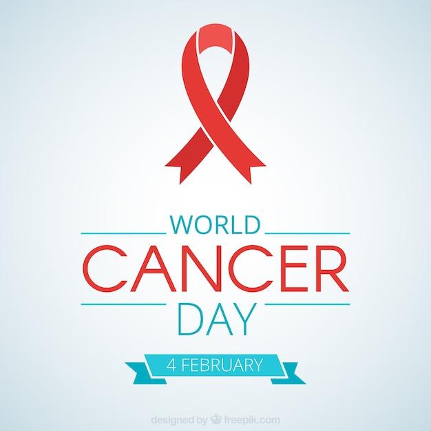 Arc rouge de la journée mondiale du cancer