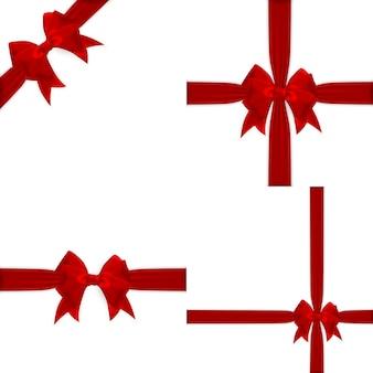 Arc et ruban rouge réaliste.