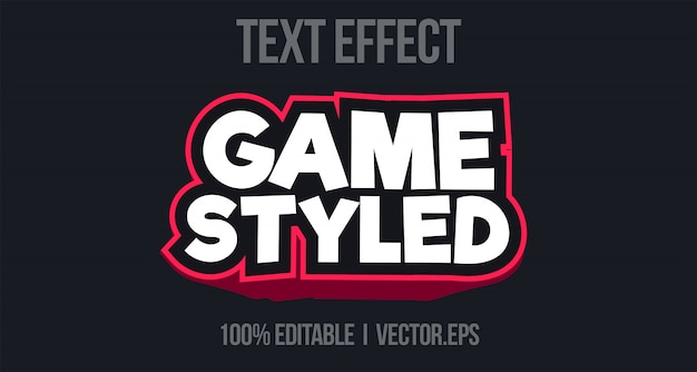 Arcade 3d bold game text effect style graphic layer stayle style de police