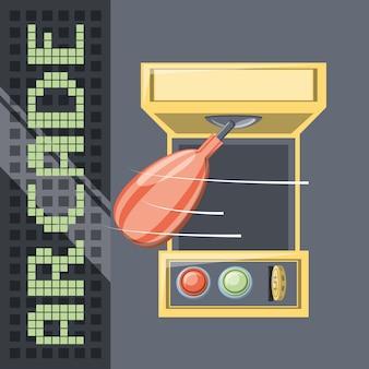 Arcade punch boxe icône du jeu