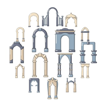 Arch icon types, style de bande dessinée