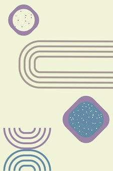 Arche minimaliste contemporaine dans un style bohème moderne pour l'affiche de la carte vector illustration a