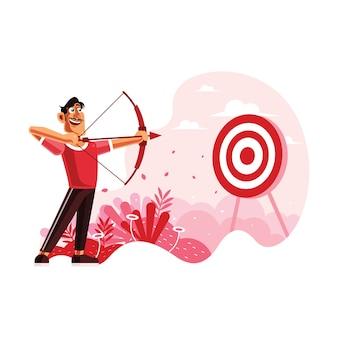 Archer visant une cible