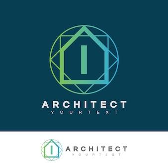 Architecte initial lettre i logo design