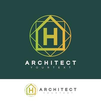 Architecte initiale lettre h création de logo