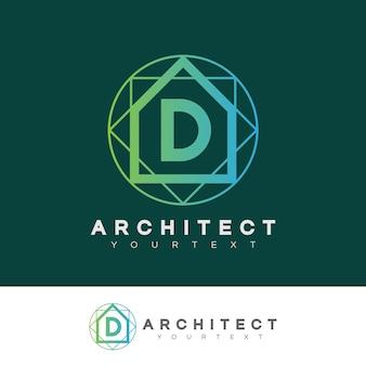 Architecte initiale lettre d logo design