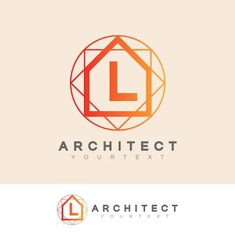 Architecte initiale lettre l logo design