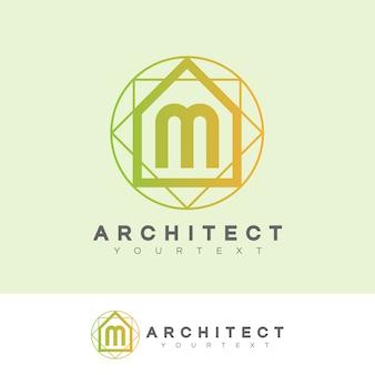 Architecte initiale lettre m logo design