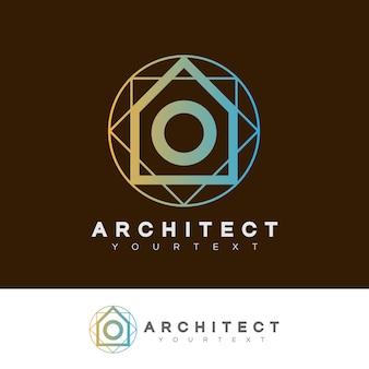Architecte initiale lettre o logo design