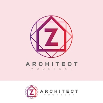 Architecte initiale lettre z logo design