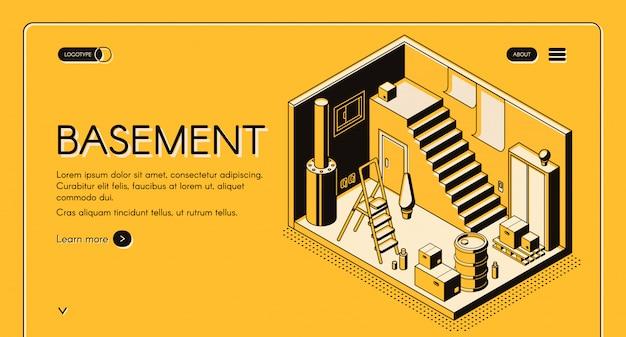 Architecte de maison, bannière de web isométrique vecteur entreprise de conception, modèle de page de destination.