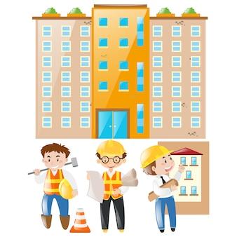 Les architectes et les bâtiments de conception