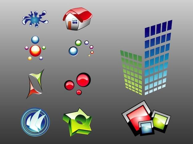 L'architecture brillant vecteur paquet logos