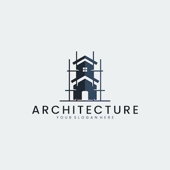 Architecture, construction, inspiration de conception de logo