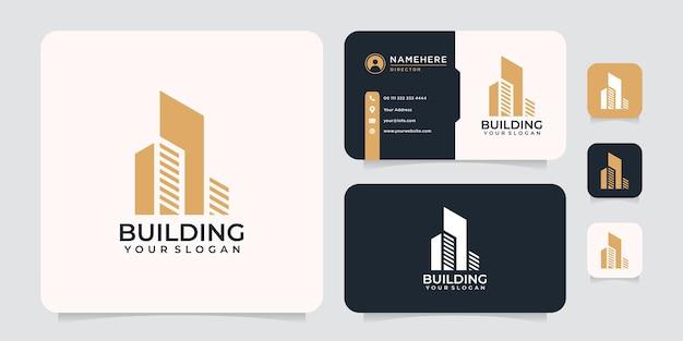 Architecture de forme vectorielle de construction de bâtiments de luxe moderne