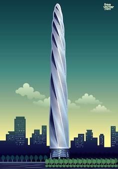 Architecture de gratte-ciel de grande hauteur