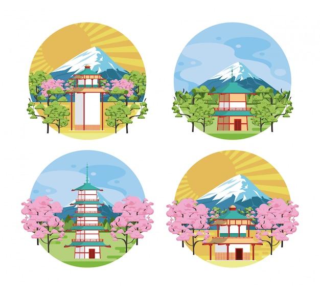 Architecture japonaise et éléments