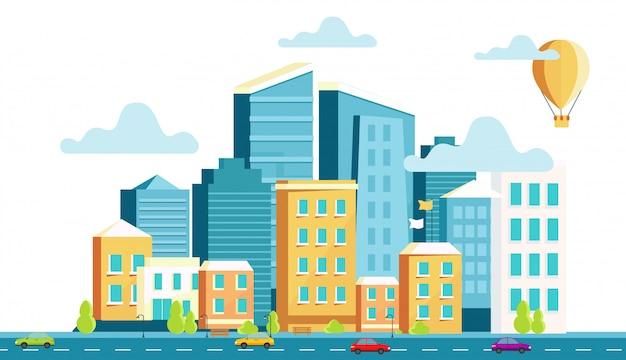 Architecture de paysage de la ville moderne.
